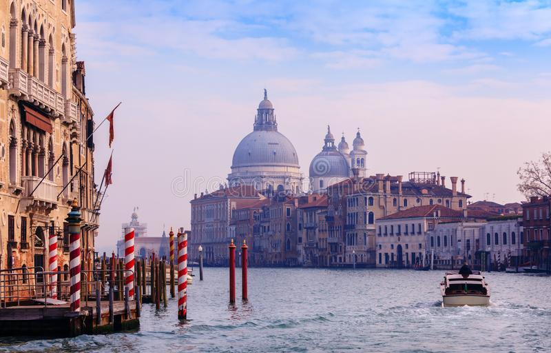 Honnör för BasilicaSanta Maria della, Venedig, Italien royaltyfria foton