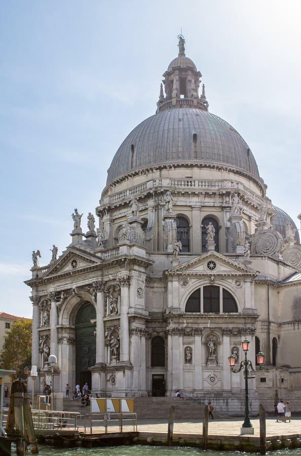 Honnör för BasilicaSanta Maria della, Venedig, Italien arkivbilder