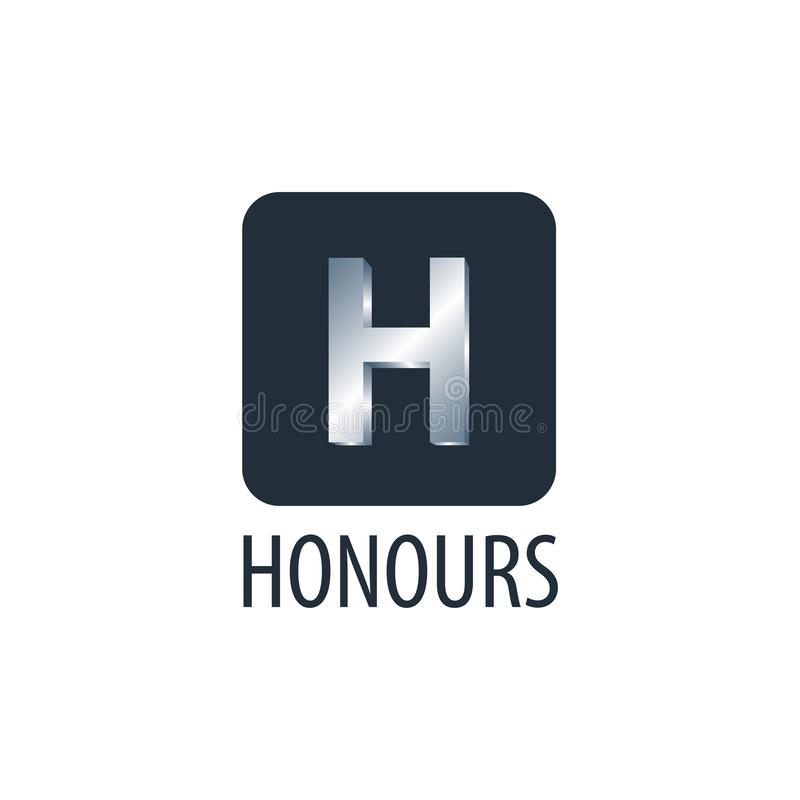 honneurs Calibre de conception de l'avant-projet de logo de la lettre initiale H de place illustration de vecteur