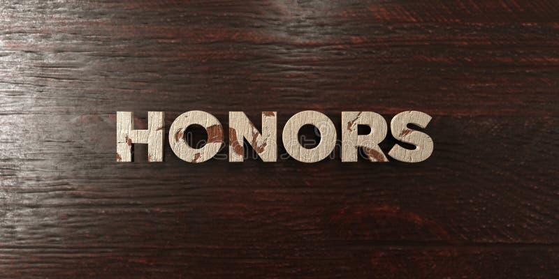 Honneurs - titre en bois sale sur l'érable - image courante gratuite de redevance rendue par 3D illustration de vecteur