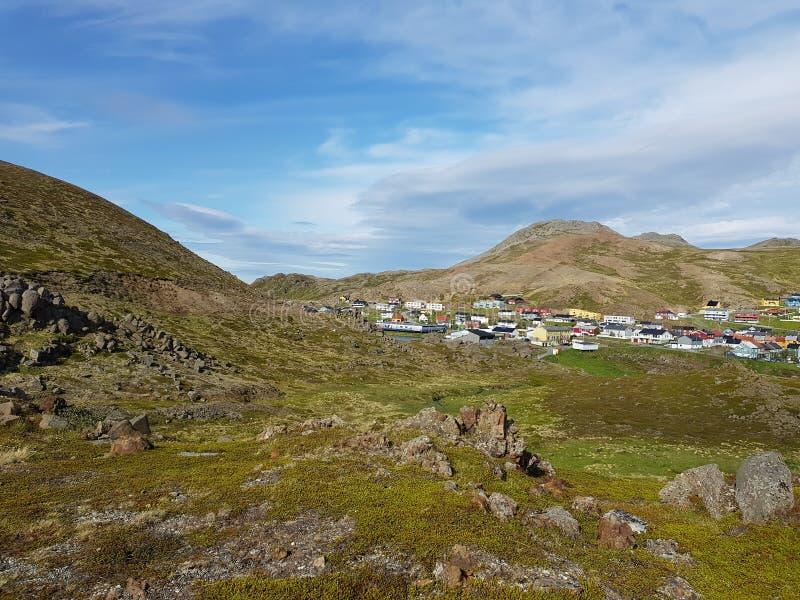 Honningsvag, cabo norte em Noruega do norte imagens de stock royalty free