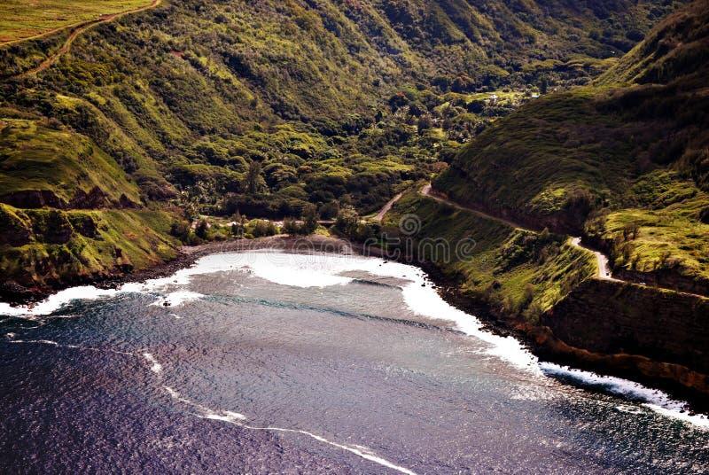 Honokohau Maui Aerial Photograph royalty free stock image