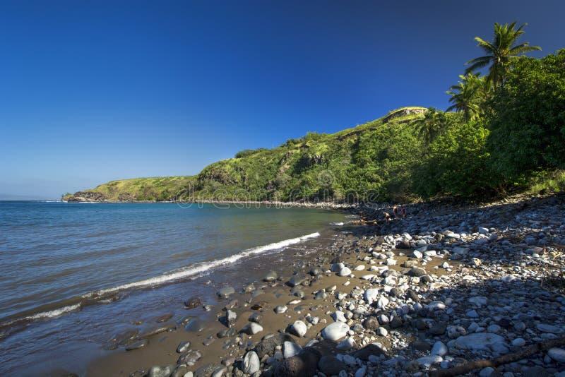 Honolua bay on the west coast of Maui, Hawaii stock photography