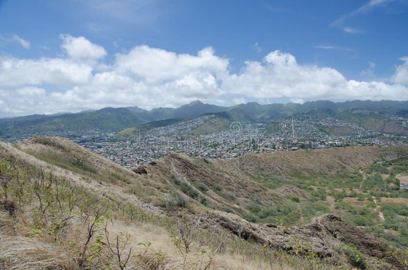 Honolulu de Diamond Head imagen de archivo