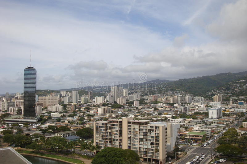 Honolulu do ar imagem de stock royalty free