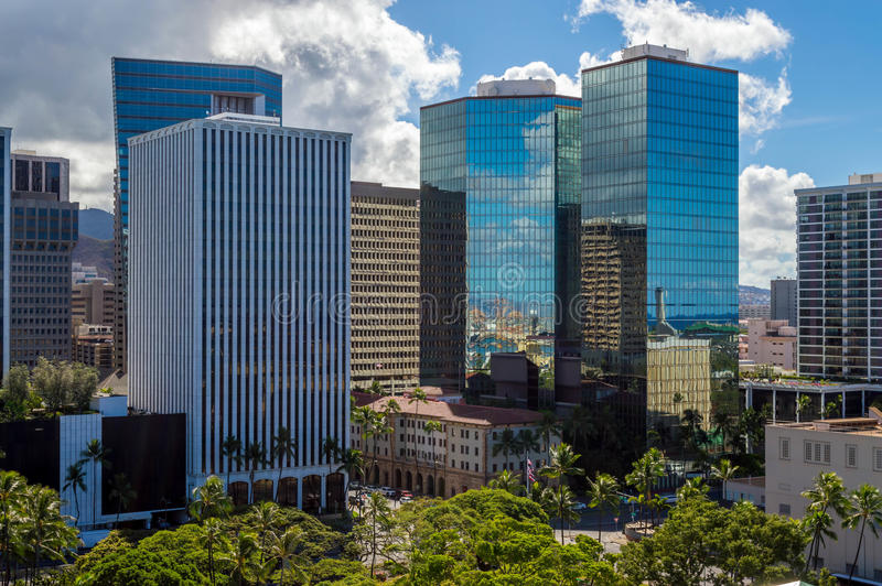 Honolulu du centre photo stock