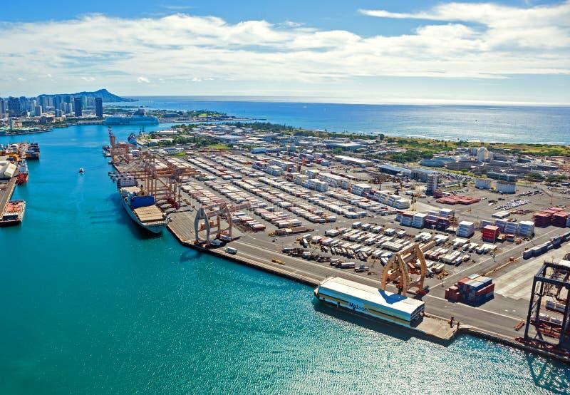 Honolulu hamnstad royaltyfri foto