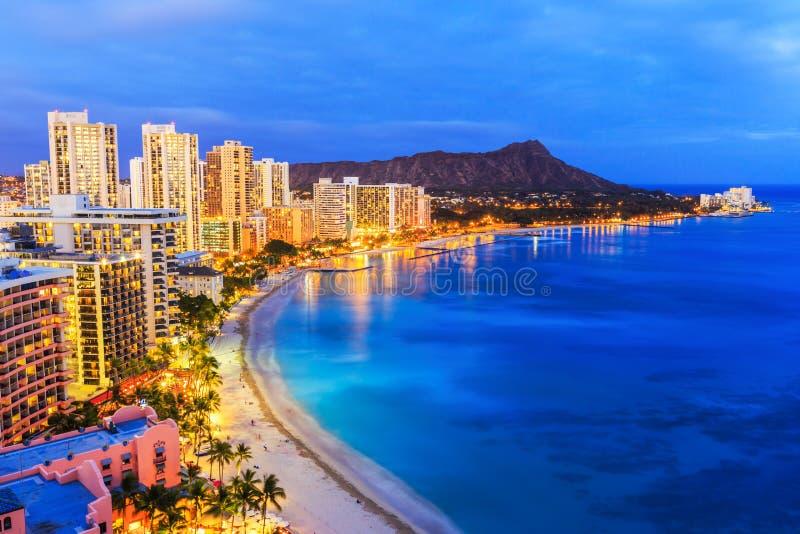 Honolulu, Havaí foto de stock