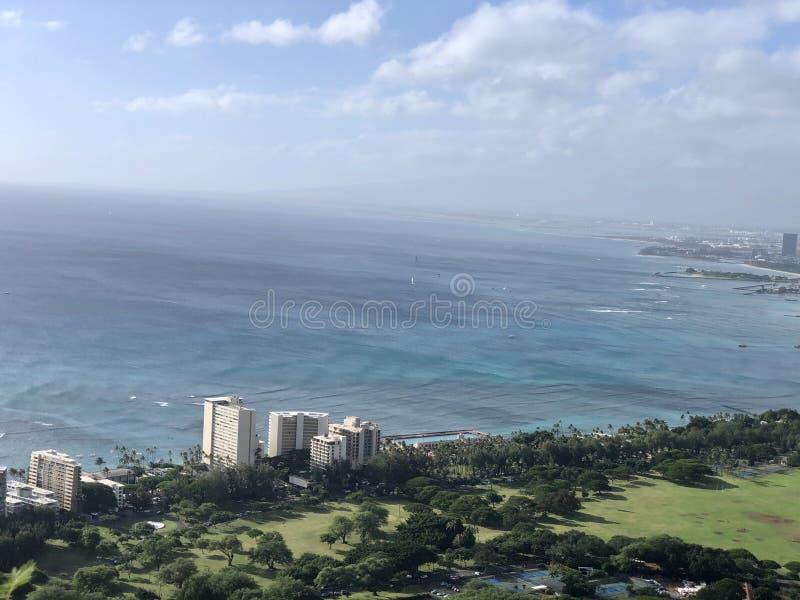 Honolulu Hawaii beauty road trip ocean scenic stock photos