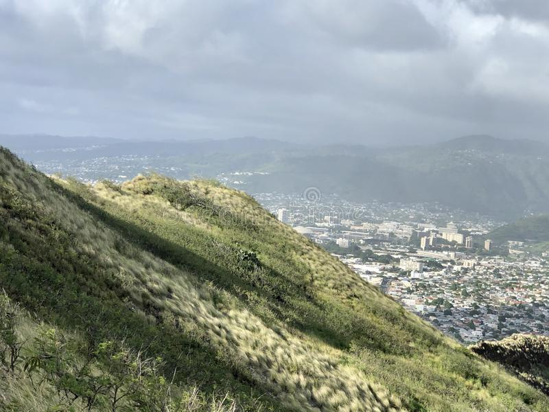 look out over Honolulu Hawaii  royalty free stock photo
