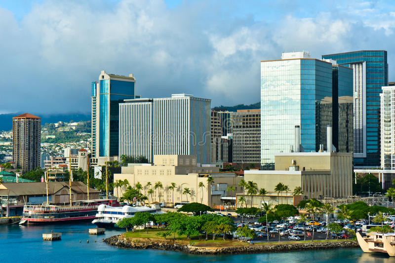 Honolulu, Hawaii, United States. Beautiful view of Honolulu, Hawaii, United States stock images