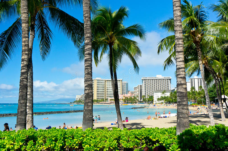 Honolulu, Hawaii, United States. Beautiful view of Honolulu, Hawaii, United States stock photos