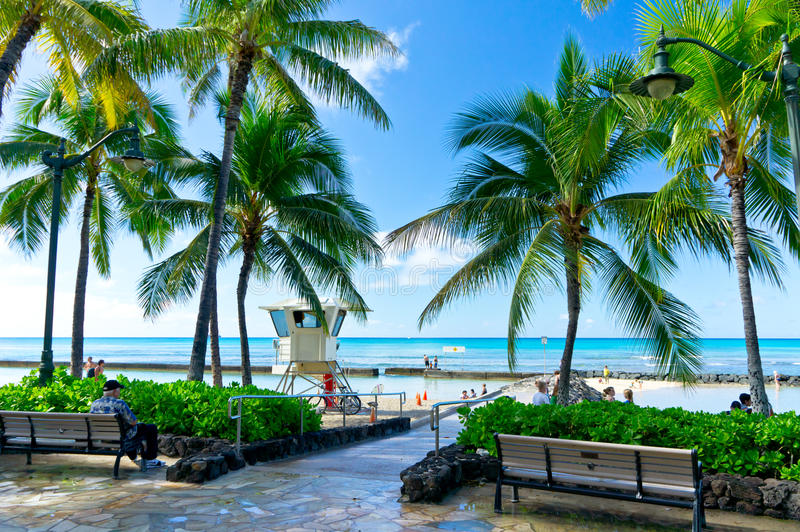 Honolulu, Hawaii, United States. Beautiful view of Honolulu, Hawaii, United States stock image