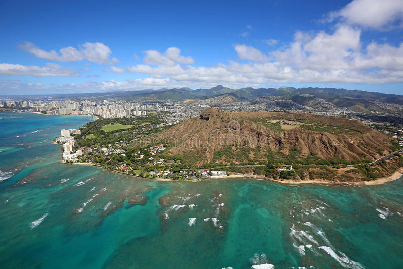 Honolulu i diamentu kierowniczy krater obrazy stock
