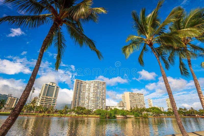 Honolulu linia horyzontu Hawaje zdjęcia stock