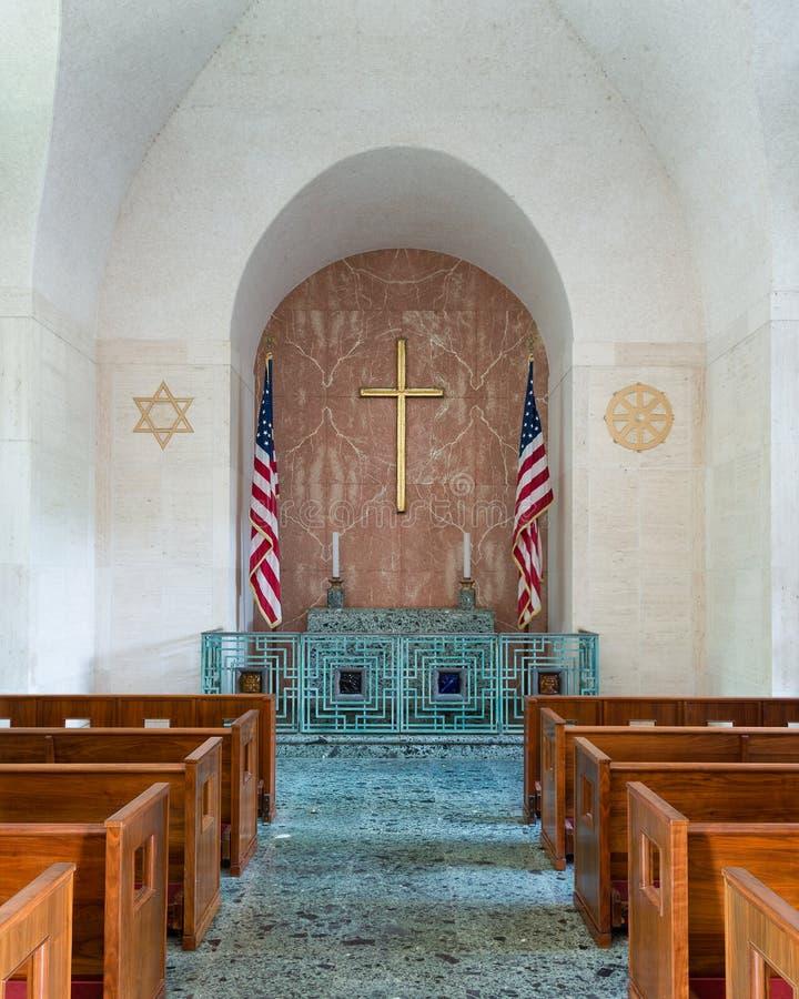 Honolulu Memorial Chapel stock image