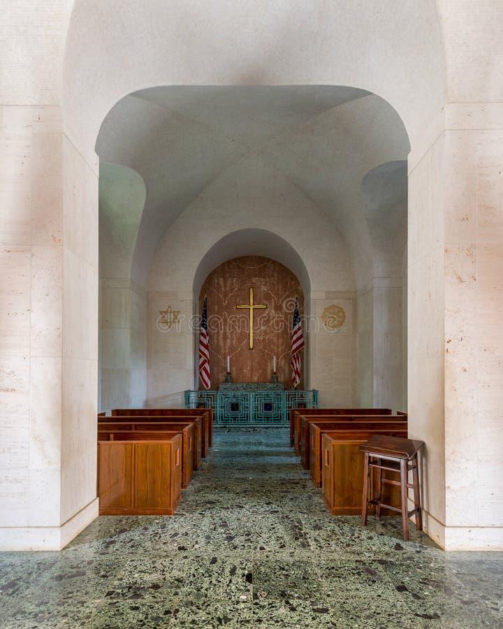 Honolulu Memorial Chapel royalty free stock images