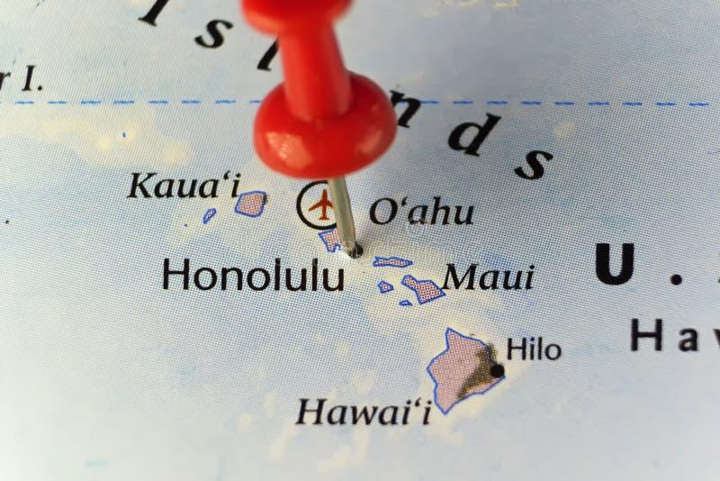 Honolulu miasto na Hawaje fotografia stock