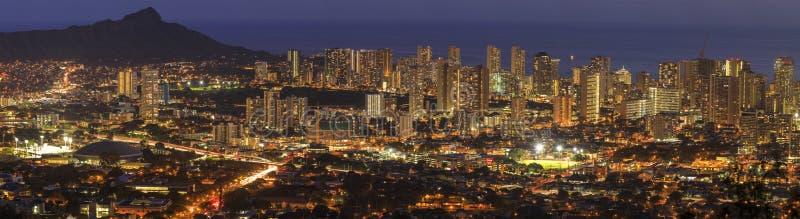 Honolulu in Oahu, Hawaï, de V.S. royalty-vrije stock afbeelding