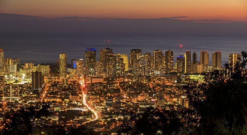 Honolulu in Oahu, Hawaï, de V.S. stock afbeelding