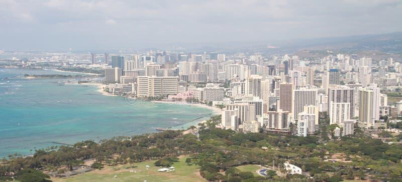 Honolulu och Waikiki arkivfoton