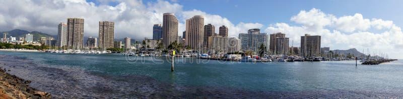 Honolulu od zachodu obraz royalty free