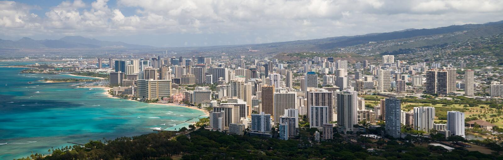 Honolulu-Panorama lizenzfreies stockfoto