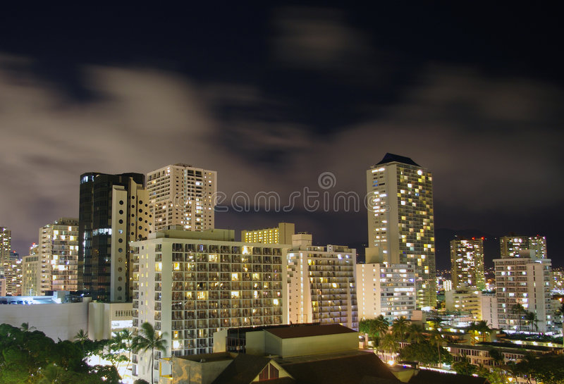 Honolulu skyline stock images