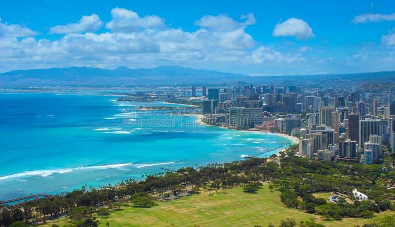 Honolulu, stad van Hawaï stock fotografie
