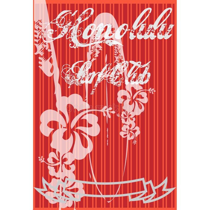 Download Honolulu Surf stock illustration. Illustration of floral - 6633240