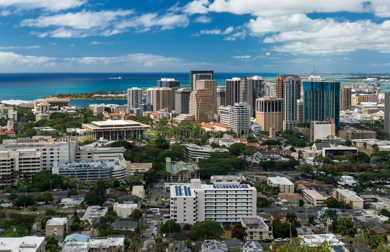 Honolulu van de binnenstad royalty-vrije stock fotografie