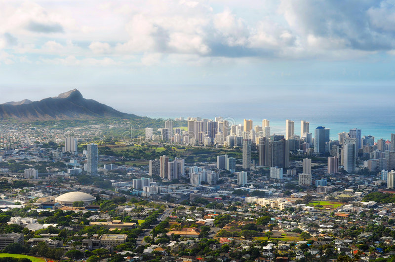Honolulu vista stock image