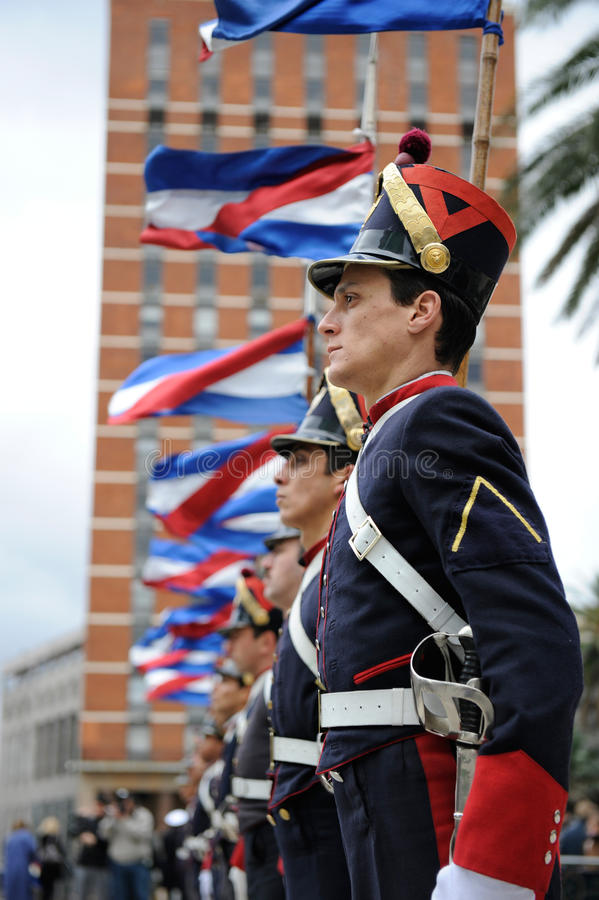 Download Honor Guard at Montevideo editorial stock image. Image of holiday - 14941074