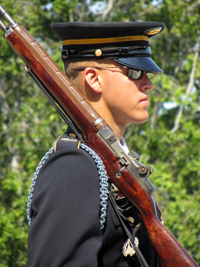 Download Honor Guard With Rifle editorial image. Image of spotless - 25005305