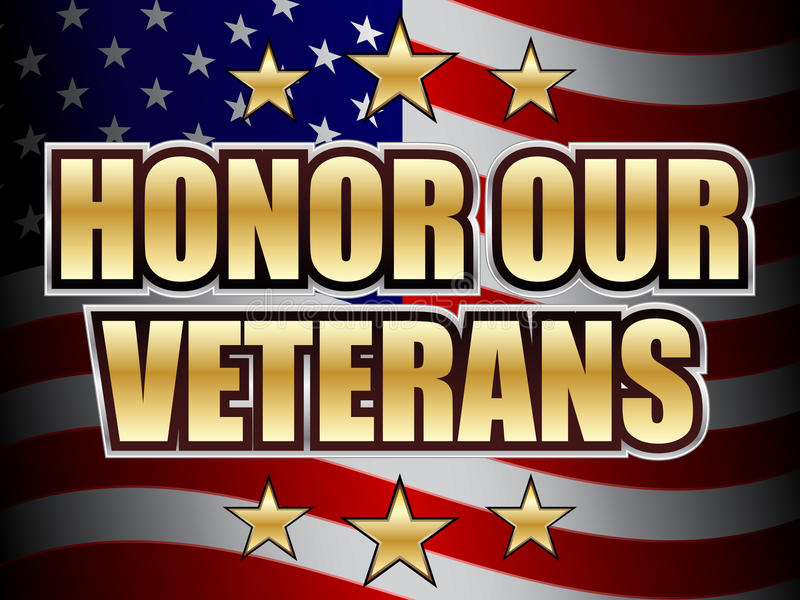 Honor Our Veterans Day. An illustration asking to honor our veterans