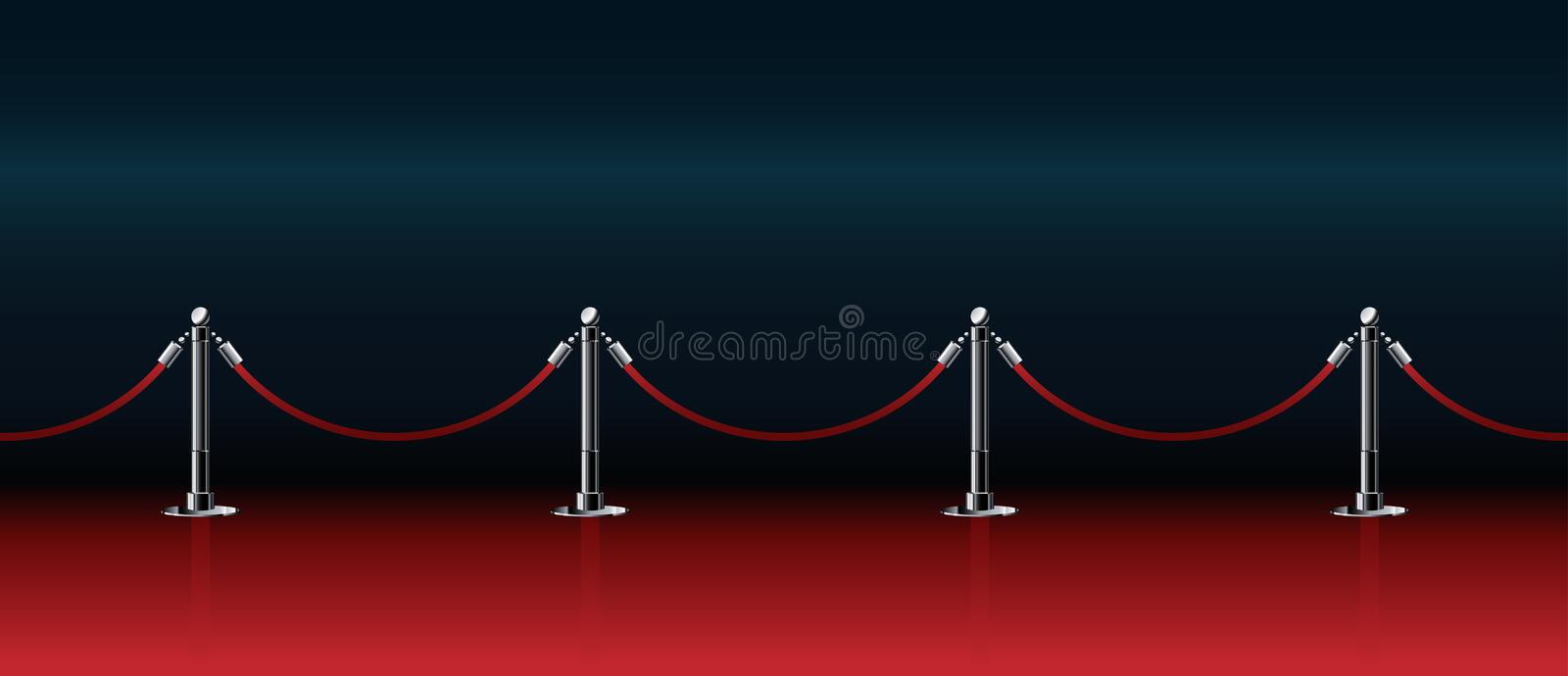 Honorable path for award ceremonies. Red honorable path for award ceremonies vector illustration