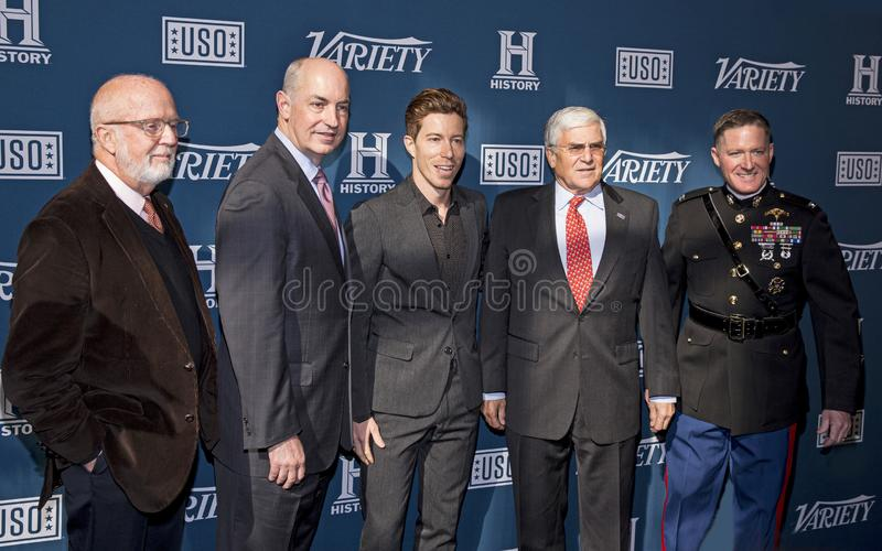 Shaun White at Variety 3rd Annual Salute to Service Event royalty free stock photo