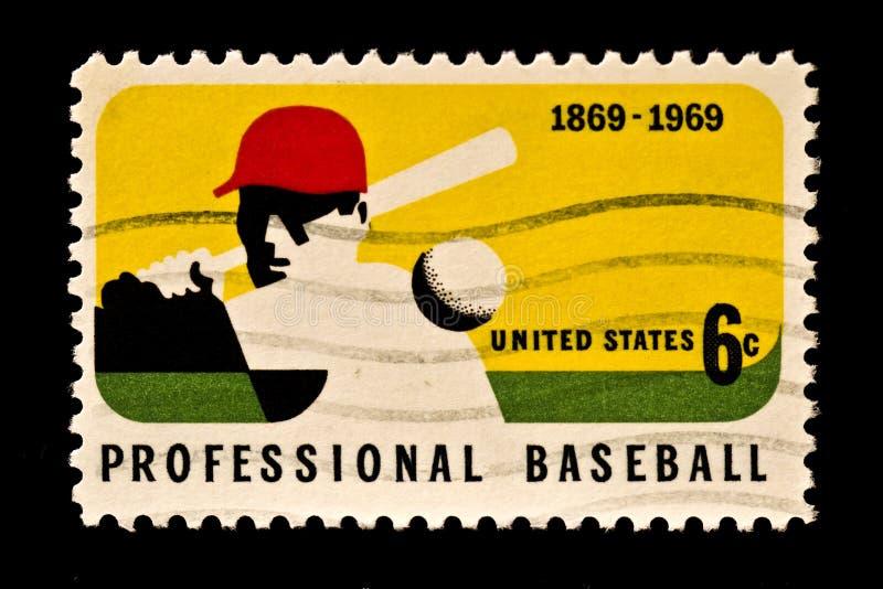 Honoring Major League Baseball Stamp royalty free stock photography