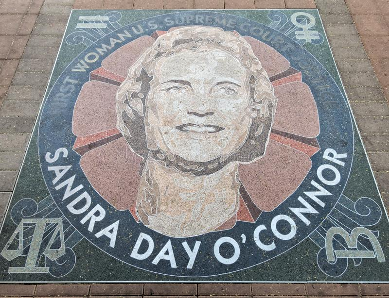 Honoring Sandra Day O'Connor in Phoenix stock foto's