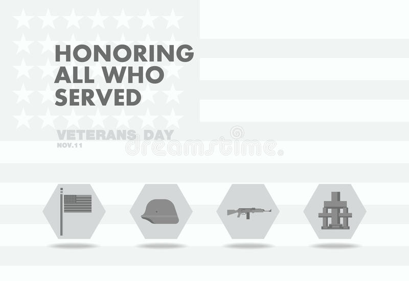 Honors Veterans day,abstact flag flat theme design vector illustration