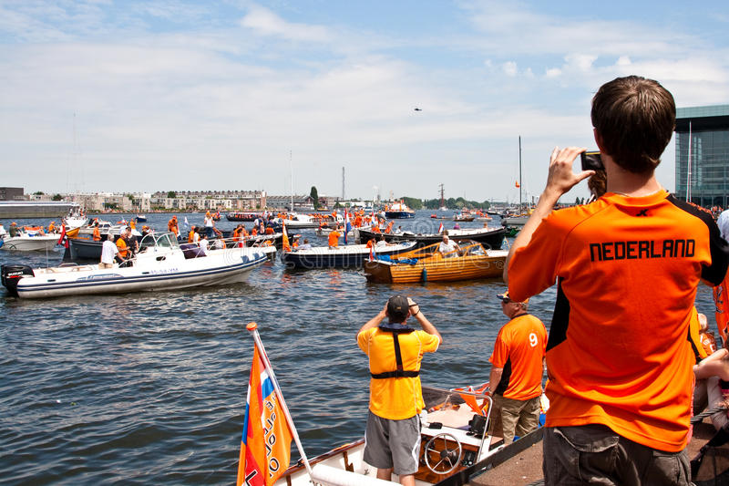 Download Honouring Of The Dutch Soccer Team Editorial Image - Image: 15185070