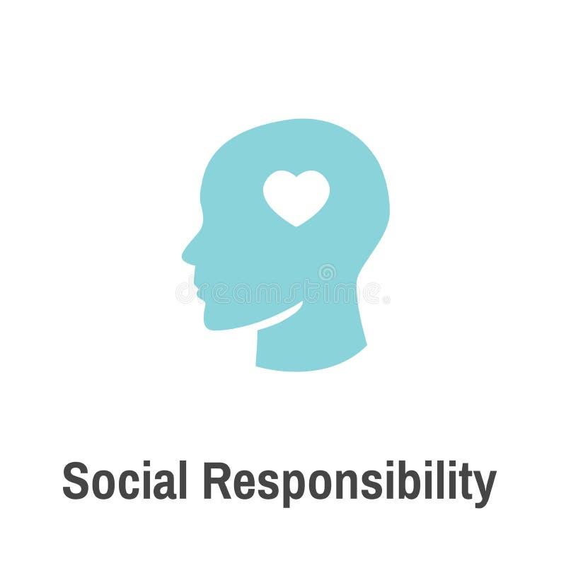 Honradez determinada, integridad, y cuesta del icono sólido w de la responsabilidad social stock de ilustración