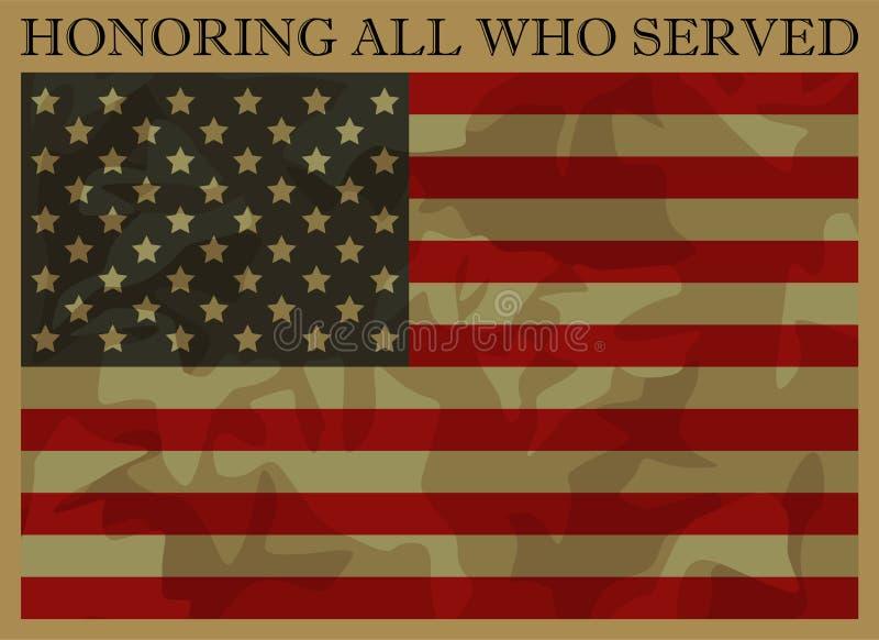 Honrando a todos que sirvieron Día de veteranos libre illustration