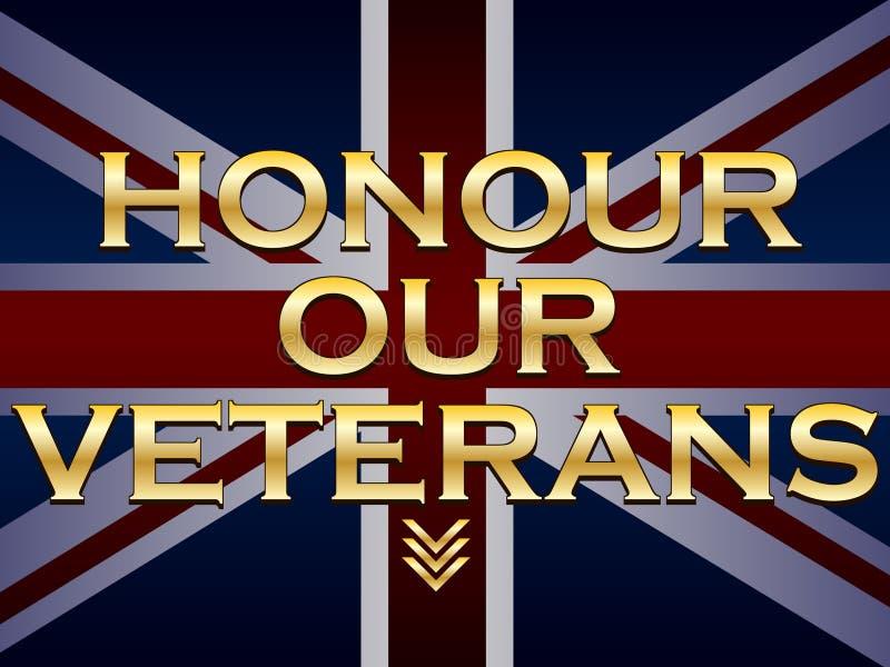 Honre nossos veteranos ilustração do vetor