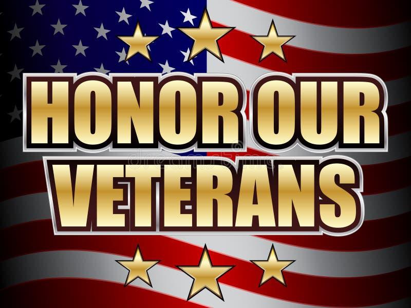 Honre nuestro día de veteranos libre illustration