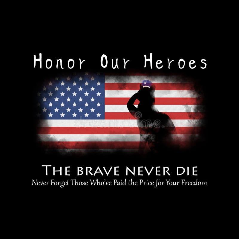 Honre a nuestros héroes en Memorial Day foto de archivo