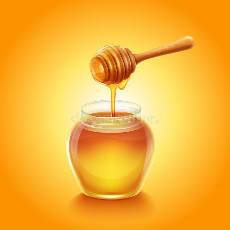 Honung stock illustrationer