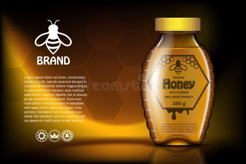 Honung för lösa blommor, mall 3D i lager och klart att använda royaltyfri illustrationer