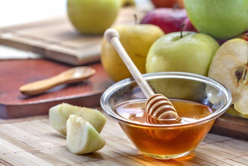 Honung och Apple arkivfoto