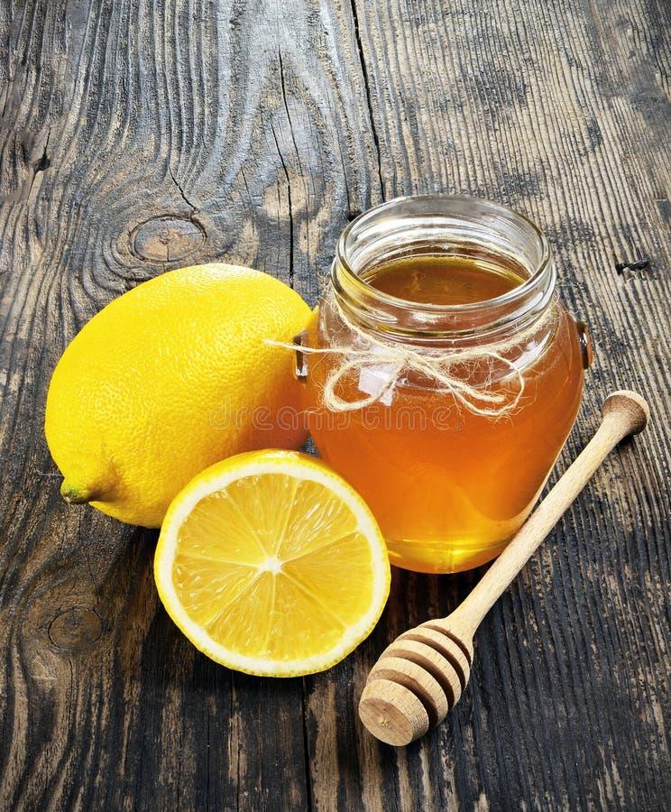 Honung och citron royaltyfri fotografi